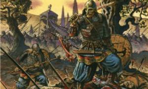 Portada - La poderosa Guardia varega del ejército bizantino en plena batalla. (zumaworld.blogspot.com)