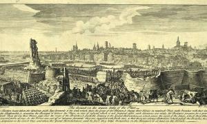 Asalto final de las tropas borbónicas sobre Barcelona el 11 de Septiembre de 1714. (Wikimedia Commons)