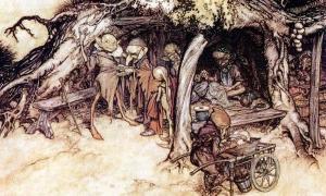 Portada - Ilustraciones de Arthur Rackham para una edición de 'El Sueño de una Noche de Verano' de Shakespeare. (Public Domain)