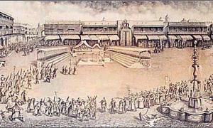 Portada-Celebración de un Auto de Fe en la Plaza Mayor de Lima. (Wikimedia Commons)