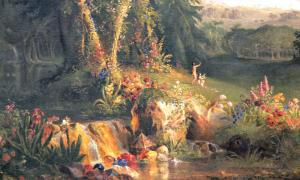 Portada-Detalle del óleo 'El Jardín del Edén', obra de Thomas Cole. Amon Carter Museum. (Public Domain)