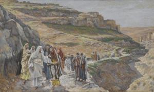 Portada - 'Jesús conversa con sus discípulos' (1886-1894) acuarela opaca sobre pergamino gris, James Tissot. (Public Domain)