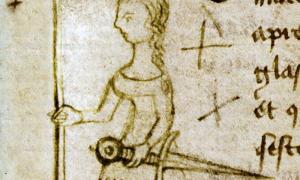 Portada - Detalle de la única representación contemporánea de Juana de Arco (1429), dibujada en el margen de un documento por Clément de Fauquembergue, escribano del Parlamento de París. Archivos Nacionales de Francia. (Public Domain)