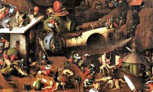 Portada - Detalle del Tríptico del Juicio de Viena (c. 1482-c. 1516), obra de El Bosco (1450-1516). Academia de Bellas Artes de Viena, Austria. (Public Domain)