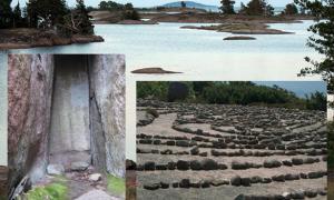 Portada-Principal: La Isla de Blå Jungfrun (Flickr). Detalle: laberinto de piedra (CC BY 3.0) y cavidad labrada en la pared de roca (Foto: Ludvig Papmehl-Dufay).