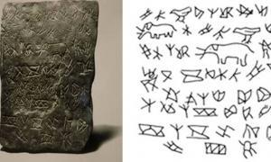 Portada - 'Losa de los Elefantes' (izquierda) y dibujo de sus inscripciones y figuras (derecha).