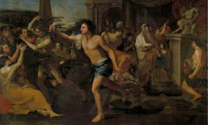 Portada-Las Lupercalia romanas, óleo de Andrea Camassei (1635). Public Domain
