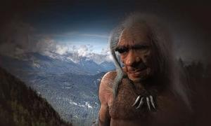 Portada - Impresión artística de un anciano Neandertal basada en un fósil hallado en La Chappelle-aux-Saints (YouTube)