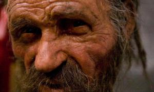 Portada - Reconstrucción del rostro de Ötzi, el Hombre de Hielo. (Simon Claessen / Flickr)