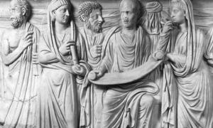 Portada - El filósofo Plotino con sus discípulos. Fuente: Dominio público