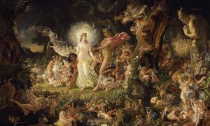 Portada - El litigio de Titania y Oberón (1849). Óleo de Joseph Noel Paton. (Public Domain)