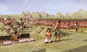 Portada-sacrificio masivo de 53 mujeres jóvenes en el Túmulo 72 de Cahokia (Wikipedia)