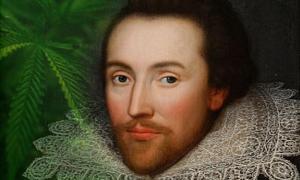 Portada-El retrato de Cobbe, realizado supuestamente en torno al 1610, cuando Shakespeare aún vivía. / hoja de Cannabis.