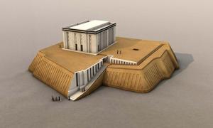 Portada - Reconstrucción digital del Templo Blanco y el zigurat de Uruk. © artefacts-berlin.de. Material científico: Instituto Arqueológico Alemán (http://www.artefacts-berlin.de/en/uruk-visualisation-project-the-white-temple/)