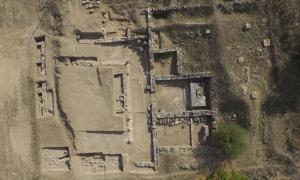 Portada-Vista aérea de las excavaciones en las ruinas del Asclepión de Feneos. Ministerio de Cultura griego.