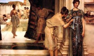 """Termas romanas femeninas""""El Frigidarium"""", de Lawrence Alma-Tadema"""