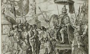 Portada-Los tres judíos son llevados ante Nabucodonosor (1565), Philip Galle (Wikimedia Commons)