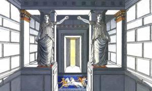 Portada-Representación artística de las cariátides de la tumba de Anfípolis, © Gerasimos G. Gerolymatos.
