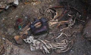 doble enterramiento de los Sacerdotes de la Serpiente-Jaguar, Pacopampa, Perú. (Ahora Digital)