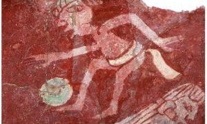 Portada-Fotografía de Portada: Detalle de una reproducción de uno de los murales del complejo Tepantitla de Teotihuacán, en el que se puede observar a un jugador de Pelota. (Wikimedia Commons)