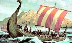 Portada - Ilustración de un antiguo drákkar vikingo. (Gbloquendox00black/CC BY-SA 3.0)