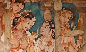 Portada - Pintura de las cuevas de Ajanta, India. (Jean-Pierre Dalbéra/ CC BY 2.0)