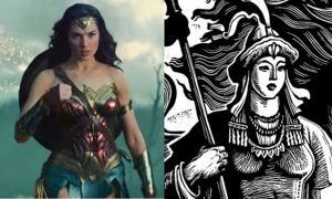 Portada - Izquierda: Gal Gadot caracterizada como Wonder Woman (CNET.com). Derecha: Heroína guerrera Saikal (newstatesman.com)