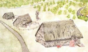 Portada-Recreación artística del posible aspecto de la antigua villa medieval escocesa de Cadzow. (Transport Scotland)