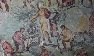 Portada - Los frescos narran escenas cotidianas de la vida en la antigua ciudad grecorromana. Fuente: CNRS
