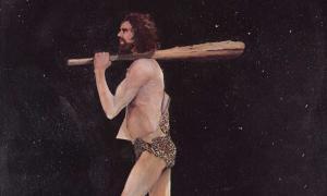 Portada - Pintura de un hombre de la Edad de Piedra