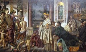 Portada - 'El Banquete de Platón', segunda versión (1874), óleo de Anselm Feuerbach. Fuente: Dominio público
