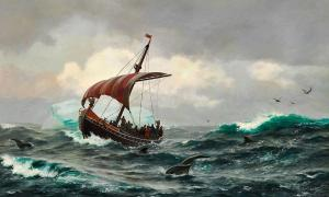 Portada-Verano en la costa de Groenlandia alrededor del año 1000 (Public Domain)