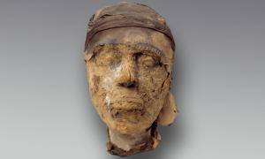 Portada - Cabeza momificada de Djehutynakht. Crédito: Museo de Bellas Artes, Boston.