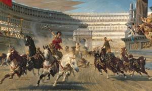Portada - Carrera de cuadrigas en la antigua Roma. (Universidad de Wisconsin)