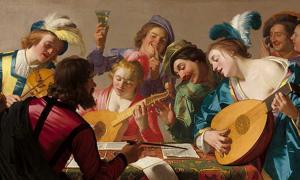 Portada - 'El concierto': óleo de Gerard van Honthorst pintado en 1623. Dominio público