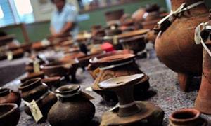 Portada-Algunas de las miles de piezas cerámicas recuperadas en la ruta del futuro Canal Interoceánico de Nicaragua. (Fotografía: El Nuevo Siglo)