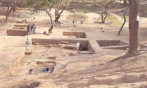 Portada - La capital de la dinastía Vakataka excavada en Nagpur. Fuente: IE/Financial Express