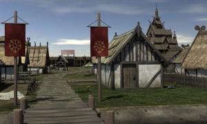 Portada - Modelo tridimensional de una ciudad vikinga (imagen meramente representativa). Fuente: Art Reference Source/Deviant Art