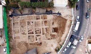 Portada-Restos de la ciudadela cananea descubierta recientemente en Nahariya, Israel. Fuente: Guy Fitoussi/IAA