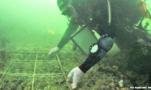 Portada - Sedimentos bajo el agua en Solent, acantilado de Bouldnor, en el estrecho que separa la isla de Wight de Gran Bretaña (Fotografía: La Gran Época/The Maritime Trust)