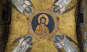 Mosaico de la bóveda de la capilla de San Zenón (siglo IX), Basílica de Santa Práxedes, Roma (Italia). Fuente: Livioandronico2013, CC BY-SA 4.0
