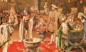 Portada-Un brindis en pleno banquete: la corte de Enrique VIII según el pintor italiano Fortunino Matania. Imagen: Bridgeman Art Library