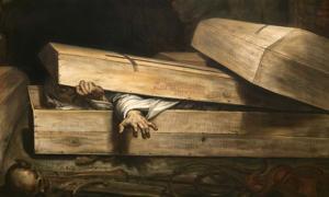 Portada - 'Entierro prematuro', óleo de Antoine Wiertz (1854) (Dominio público)