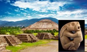 Portada - Principal: Teotihuacán, México (BigStockPhoto). Detalle: Hacha labrada con la forma de un conejo, Veracruz (México). En la oreja del conejo se puede observar un conocido rasgo de estilo teotihuacano que representa el ojo de una serpiente emplumada. (Public Domain)