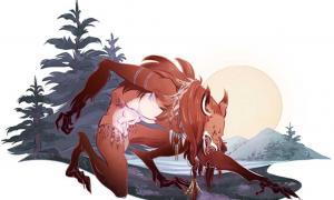 """'Skinwalker' (""""Cambiapieles""""). Ilustración de Alexandria Huntington para expedia.co.uk"""