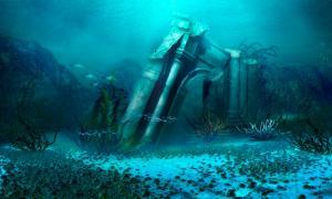 Portada - Representación artística del posible aspecto de las ruinas de la Atlántida (diversepixel/Adobe Stock)
