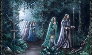 Portada - Elfos de la Tierra Media atravesando un bosque durante la noche. (Araniart/CC BY 3.0)