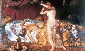 """""""La muerte de Atila"""", óleo de Ferenc Paczka. Los hunos quedaron gravemente debilitados tras la muerte de Atila en el año 453, entrando su otrora poderoso imperio en franca decadencia. (Public Domain)"""