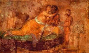 Portada - Pareja romana en una cama. Fresco de la Casa della Farnesina (Roma), c. 19 a. C.