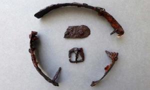 Portada - Se encontraron una hebilla y parte de una tira de hierro junto con las piezas de metal (Border Archaeology)